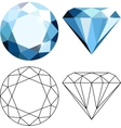 Flat style diamonds vector image vector image