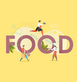 food concept flat style design vector image vector image