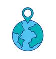 globe world pointer map location web vector image