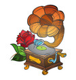 gramophone ancient musical instrument vintage vector image