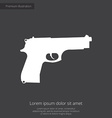 gun premium icon white on dark background vector image vector image