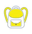 icon of school rucksack vector image
