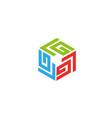 labyrinth technology symbol for logo vector image