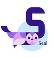 letter s - seal vector image vector image