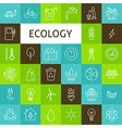 Line Art Ecology Green Power Icons Set vector image vector image