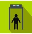 Metal detector flat icon vector image