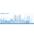 outline south america skyline with famous vector image vector image