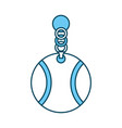 pet collar with ball icon vector image vector image