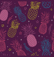 pineapple party purple summer tropical vector image vector image