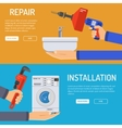 Plumbing Service Banners vector image vector image