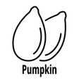 pumpkin seed icon outline style vector image vector image