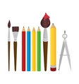 set elements school tolls design vector image