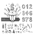 set numbers for a congratulation vector image vector image