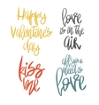 Set of 4 decorative handdrawn lettering vector image vector image