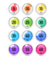Set of timer icon set vector image vector image