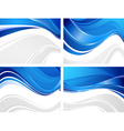 Set of wavy abstractions vector image vector image