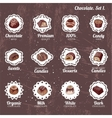 Set with different kinds of chocolate candies - vector image vector image