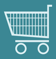 shopping chart vector image
