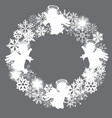 snowflake wreath vector image vector image