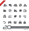 social communications - basics vector image