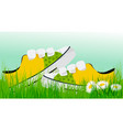 spring sunny sneakers vector image