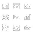stand icons set outline style vector image vector image