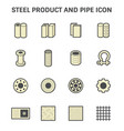 steel pipe icon vector image vector image