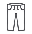sweatpants line icon clothes and sport pants vector image vector image