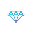 tech diamond logo icon design vector image