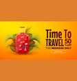 time to travel horizontal sale banner or discount vector image