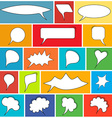 Trendy speech bubbles set vector image
