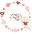 valentine candy frame vector image vector image