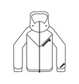 winter jacket clothes black and white vector image vector image