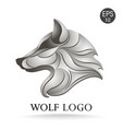 wolf head profile logo stock vector image