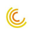 yellow half circle motion abstract symbol vector image