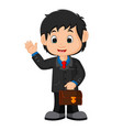 young man in business suit vector image vector image