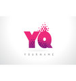 yq y q letter logo with pink purple color and vector image vector image