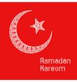 Zentangle stylized Ramadan Kareem greetings vector image