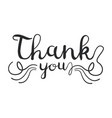 thank you handwritten inscription isolated on vector image