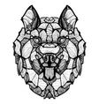 Zentangle Dog Husky vector image