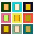 set pixel icons of sandwich vector image