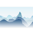 blue mountains in the fog seamless vector image