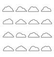 cloud line icon set vector image