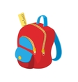 School bag icon cartoon style vector image