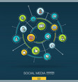 abstract social media background digital connect vector image vector image