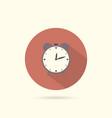 alarm flat design round icon vector image