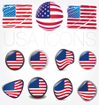 american flag symbols vector image