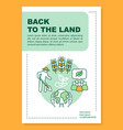 back to land poster template layout eco farm