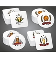 Beverage coaster with beer labels set vector image vector image