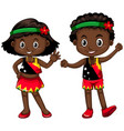 boy and girl from papua new guinea vector image